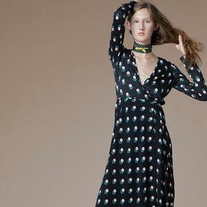 Diane von Furstenberg Casimir Dot Wrap Dress